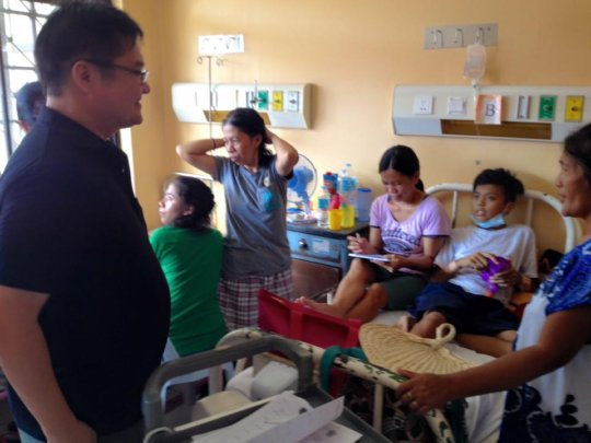 crowded cancer treatment ward at House of Hope
