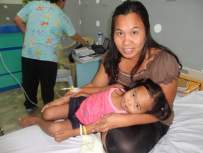 Pauline, age 7, alive thanks to our donors