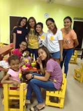 Teen volunteers at House of Hope, Davao