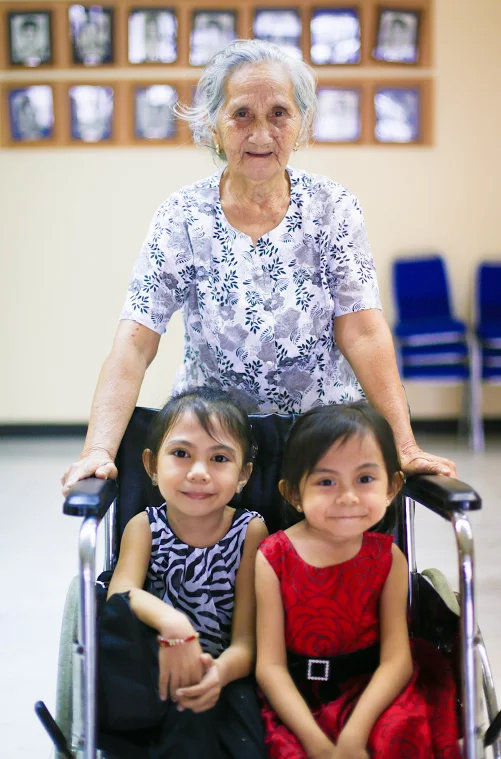 Special children with their Grandma at PSOD