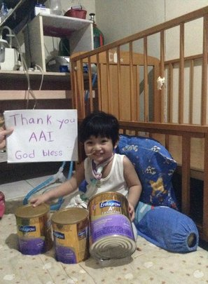 AAI-provided nutrition and powdered milk