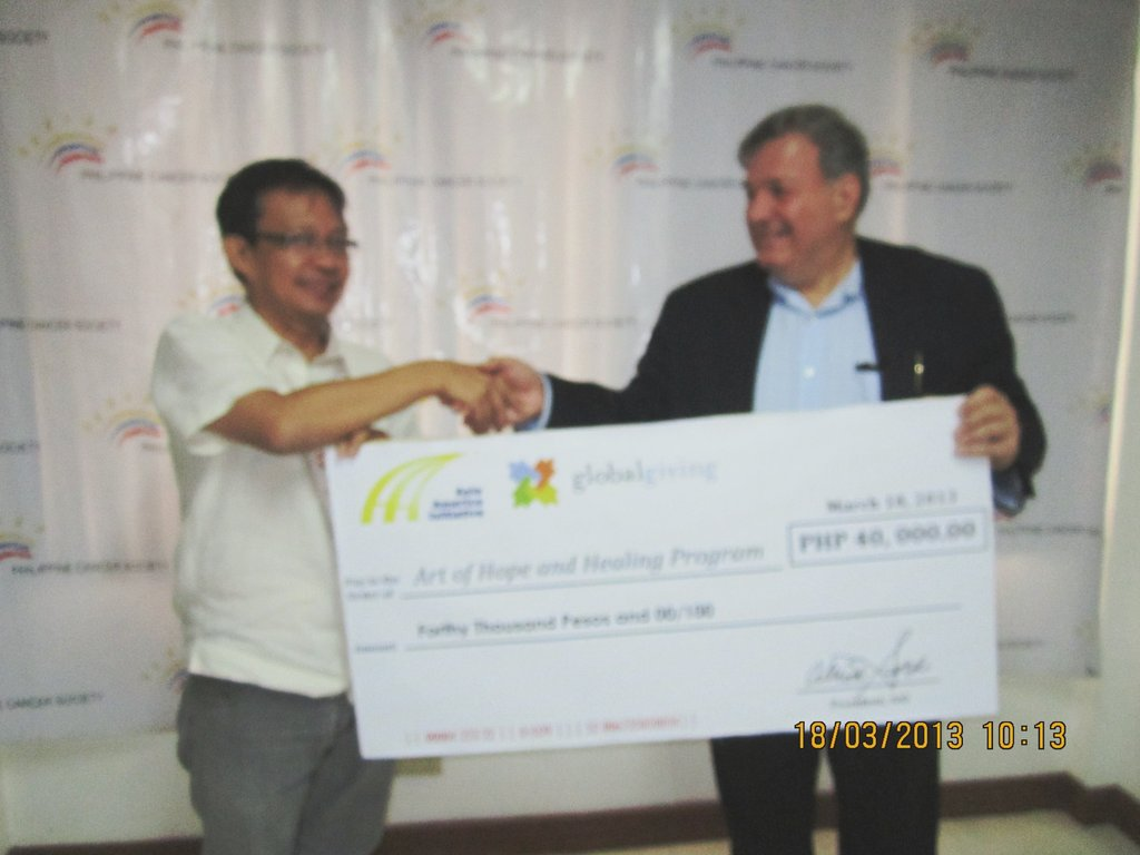 AAI delivers PCS a GlobalGiving donation