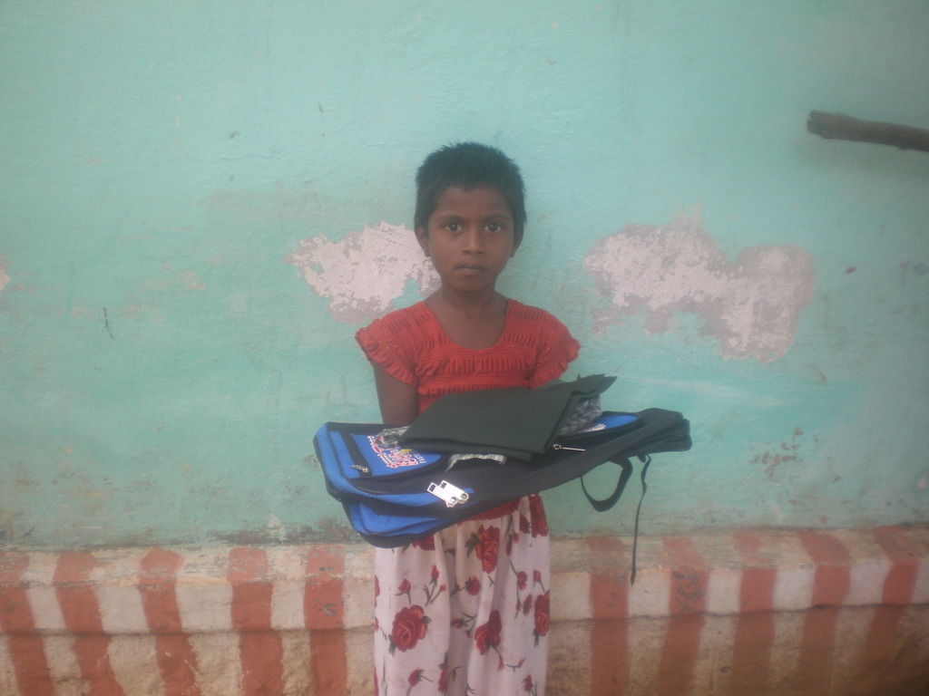 A child with educational support