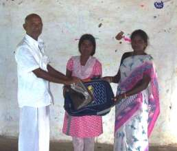 A girl benefited in the program