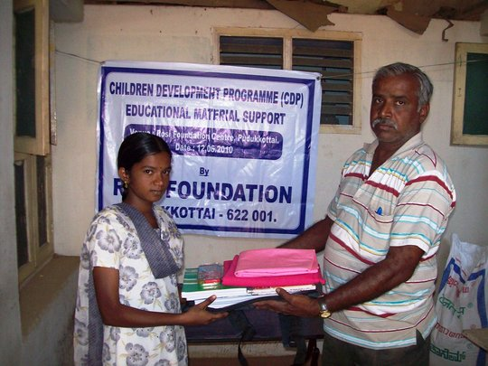 Educational support to a girl