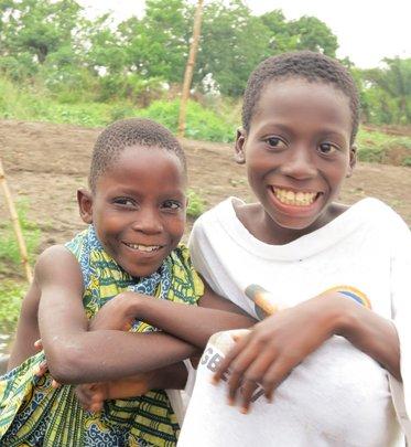 Children in Affame, Benin