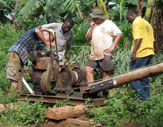 Preparing to drill a Borehole