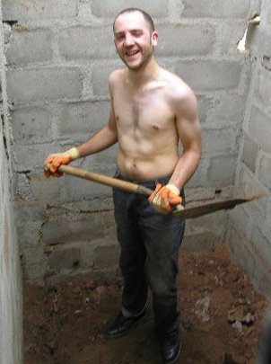 Guillaume digs out the Toilet