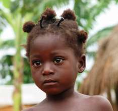 An interested small friend in Benin!