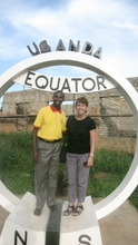 Henry and TCP's Sylvia Herzog, at the equator
