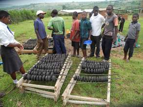 Students Making Briquettes