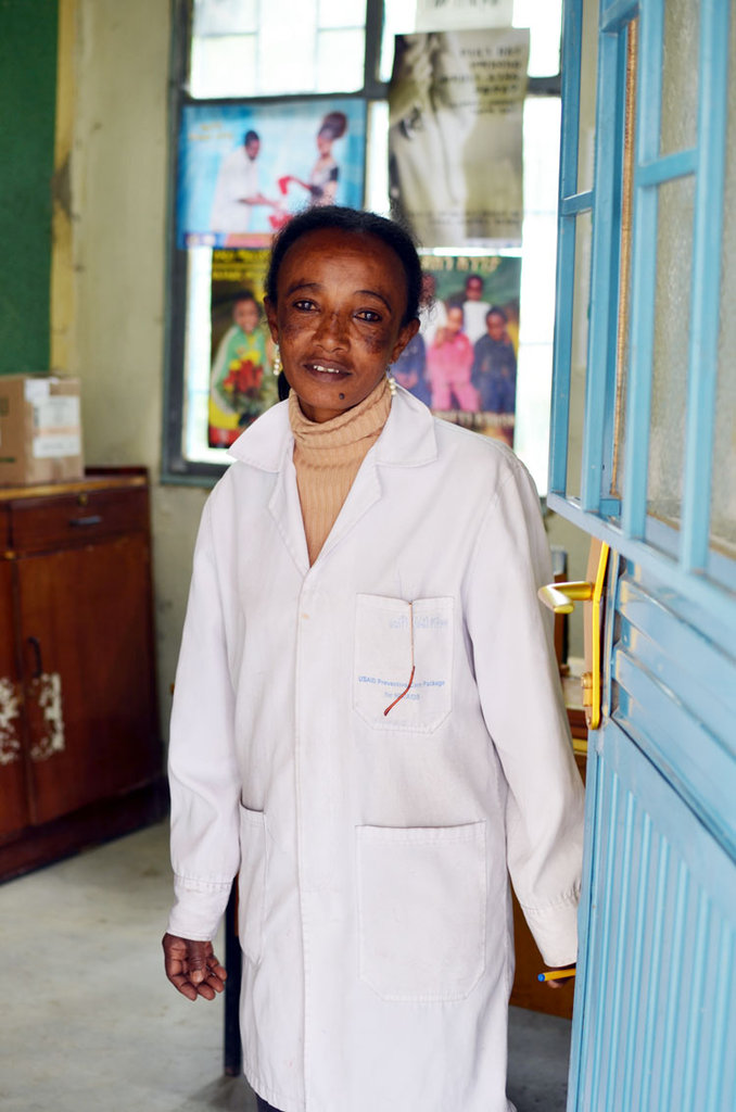 A community health worker in Ethiopia