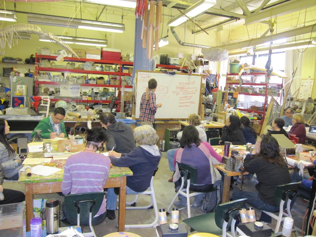 Teachers hard at work