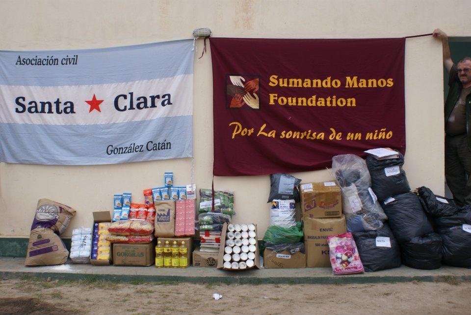 Donations delivered in Santiago del Estero