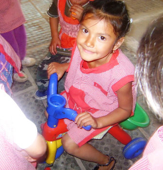 Donation received in kindergarden in Chaco
