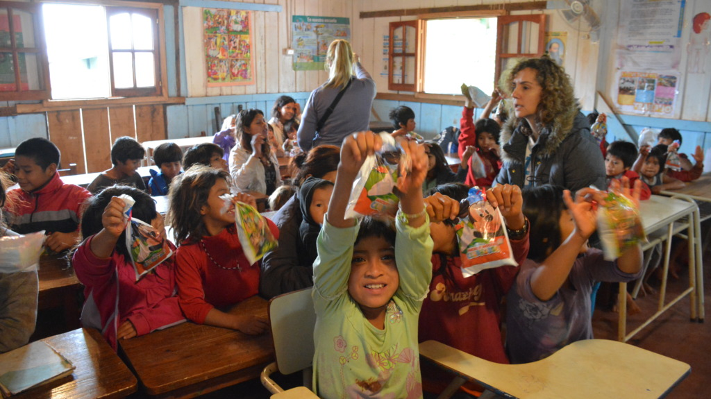 Our children in a school in Misiones