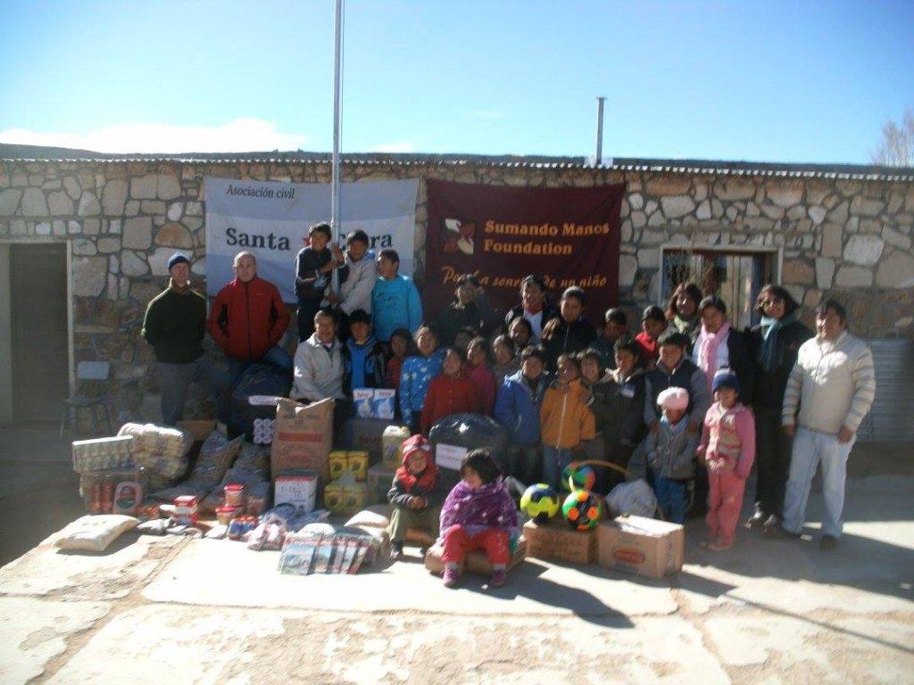 School receiving donations in Jujuy
