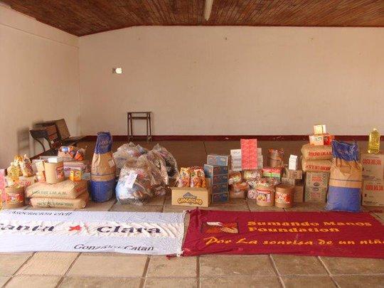 Entrega de Alimentos Chaco. Asoc.Civil Santa Clara