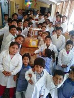 Donation received in Salta by teachers & children