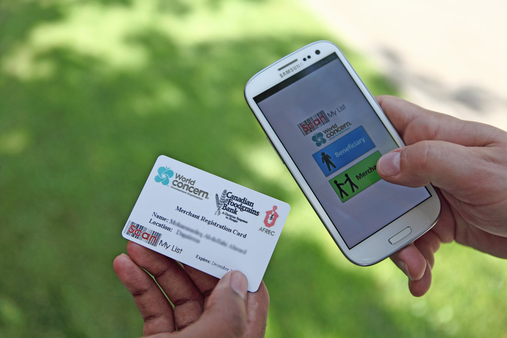 A mobile phone app is helping feed people.