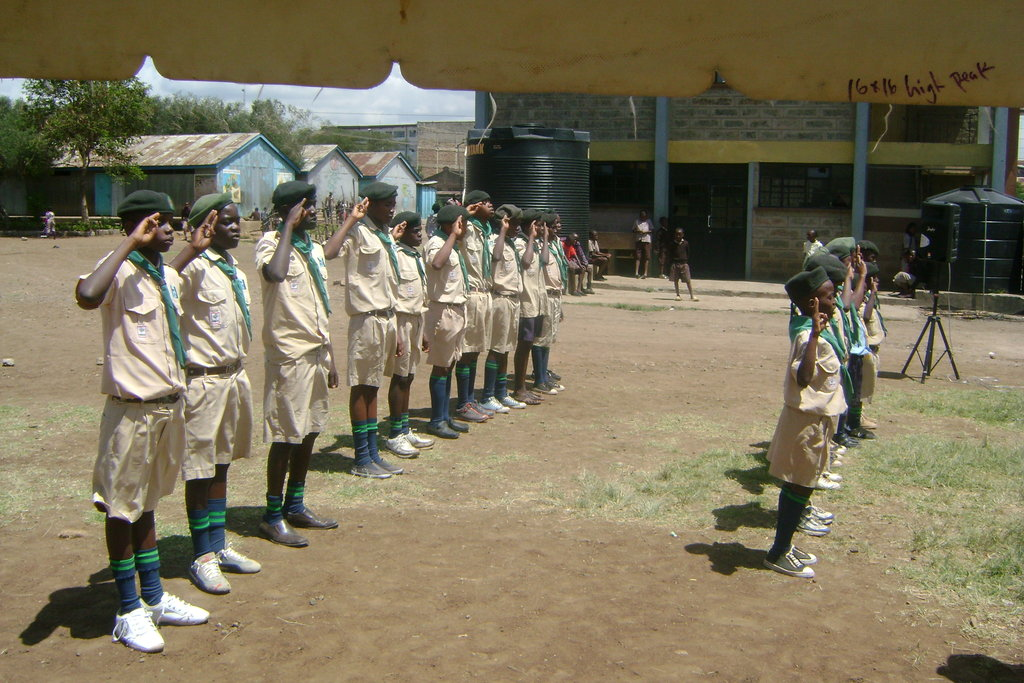 Scouts Guard of Honour