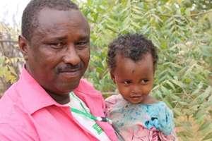 Abdul Rashid and his little girl