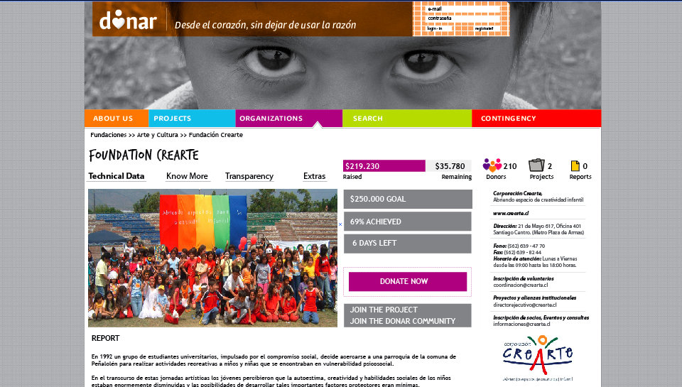 Donate to Donar: Help 200 Organizations in Chile