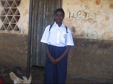 Claudinne, a Global Giving-supported school girl
