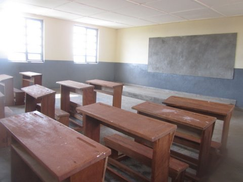 Interior of a classroom in the new building