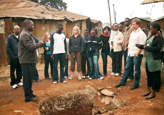 Mapping with stakeholders in Kibera