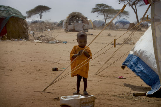 A Somali child in Dadaab
