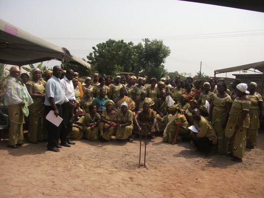 Members of DAA during a group meeting