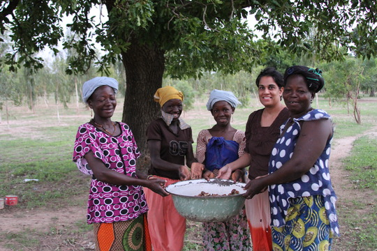 Ritu and women farmers in Burkina Faso