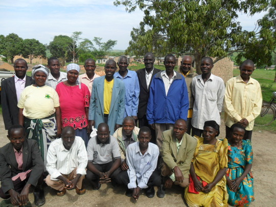 A team of Community workers after  a meeting