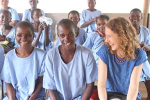 Abbey meets with women recovering from fistula
