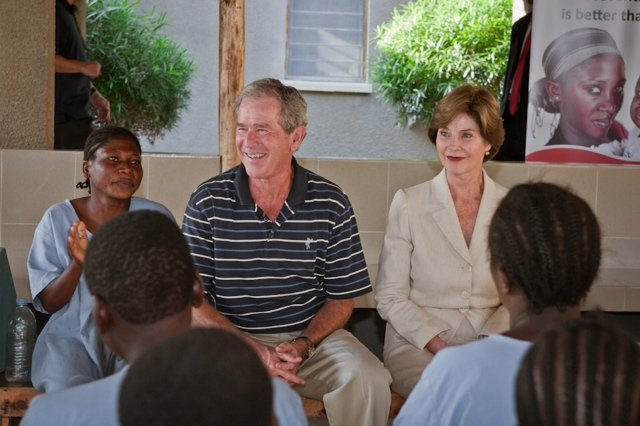 Pres. and Mrs. Bush visit CCBRT