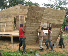 Bamboo House Assembly Process