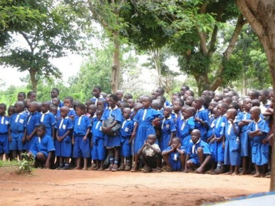 Students at Bwetyaaba Primary School