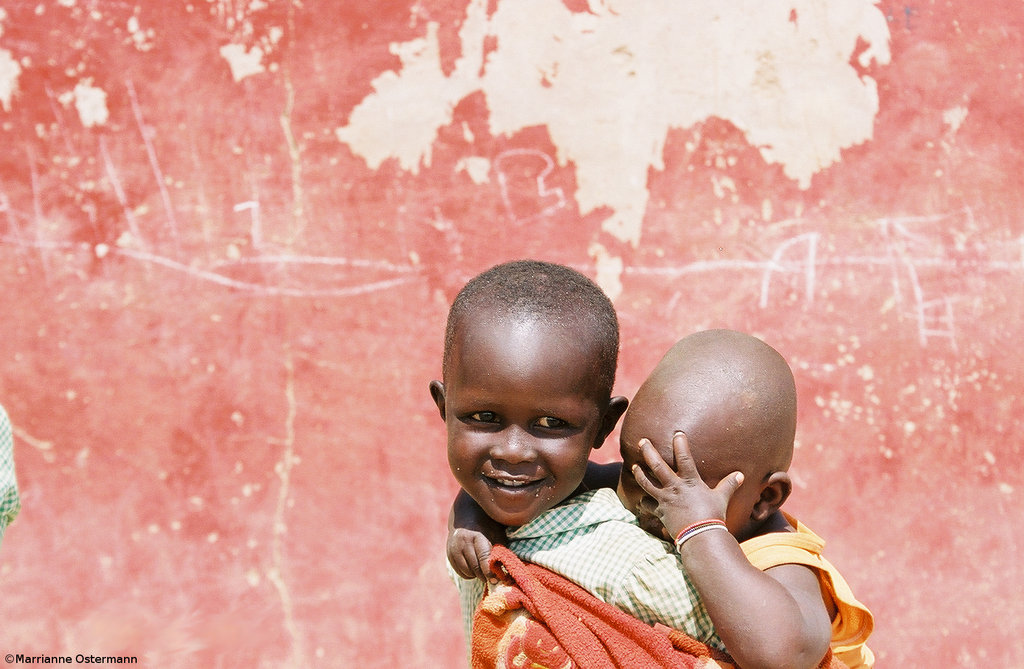 As the Horn of Africa faces the worst drought in 60 years, two young brothers share a playful moment in Kenya, where MADRE is working with our partners to respond to the crisis in Somalia.