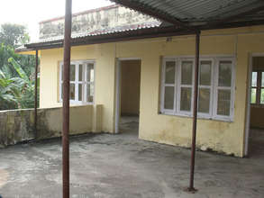 Clinic before renovation - front entrance.