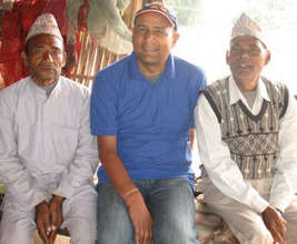 Debendra and members of Chisang Service Committee