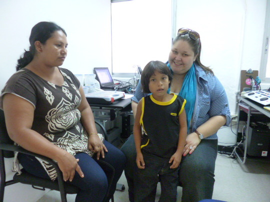 Daniel, 6 years old, identified with hearing loss