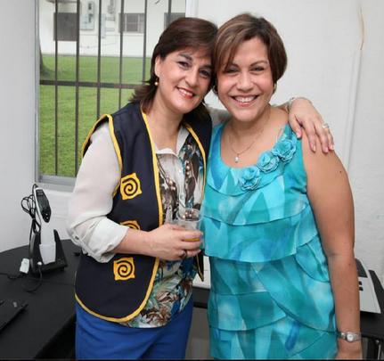 President Giovanna and new Vice President Analida