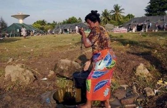 Provide clean water to Indonesian survivors