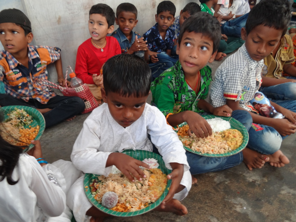 Mid day meal provided to children