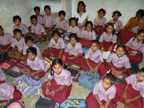 Children group photo by wearing uniform