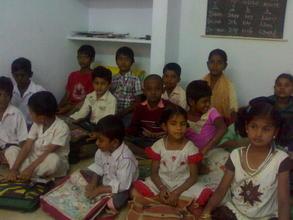 children at prashant nagar colony center