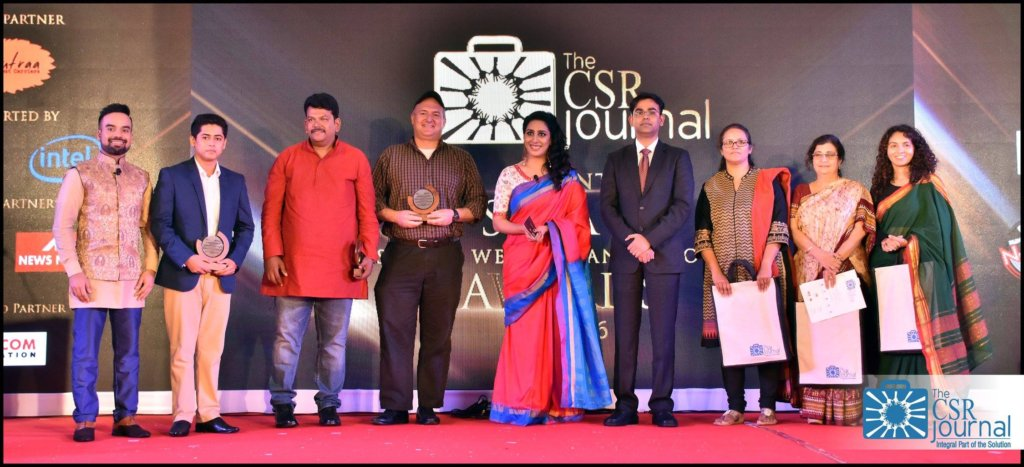 Award received from CSR Journal