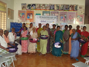 Dr.Prameelamma Project Leader with LF patients