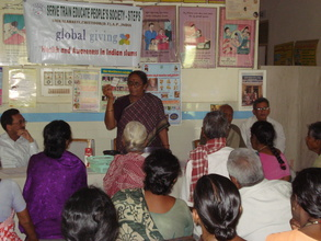 Explaining about drugs to be taken by LF patients